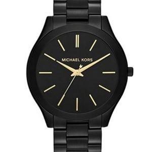 Michael Kors MK3221 black and gold watch